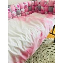 Beebi voodipesu roosa pilveke